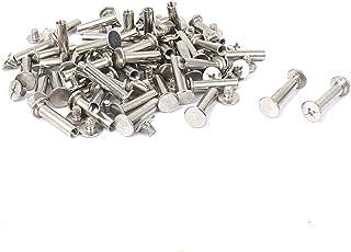 Chicago Screws Binding Posts with Screws Steel Zinc Combo Truss//Slot Drive Truss Head Open 10-24X1//4 25 Pcs Small Screws Screw Post Chicago Screw Sex Bolts Binding Screws Super-Deals-Shop