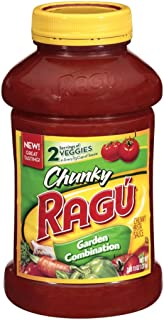 Ragu Chunky Pasta Sauce, Garden Combination, 45 Ounce (Pack of 12)