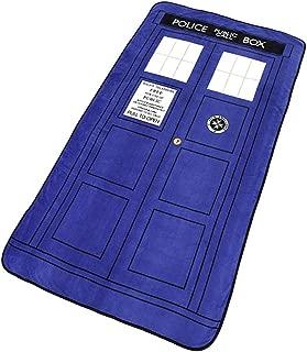 Doctor Who Tardis Phone Booth Oversized Micro Raschel Throw Blanket