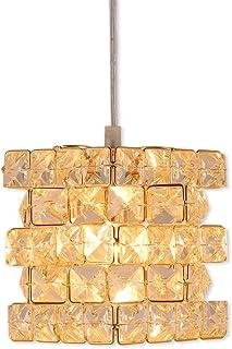 (セーディコ)Cerdeco まるでオーロラのような煌き… ユニークな立方体パズルデザイン 手軽に贅沢 ペンダントライト 高級感漂うゴールド 手作業で作る インテリア照明 サイズ175x150mm PDT13