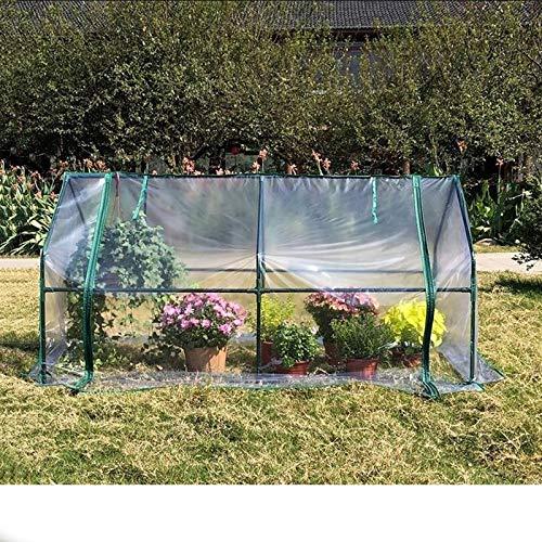 MAHFEI Invernaderos Terraza, Invernadero De Túnel Mini Invernadero Cubierta Vegetal De PVC De Invierno Protección contra El Frío Aislamiento Fácil De Instalar para Balcón Cultivar Invernadero