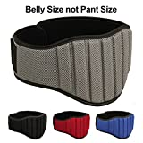 MRX Weight Lifting Belts Fitness Training Gym Back Support Belt 8' Wide (Grey, 2XL)