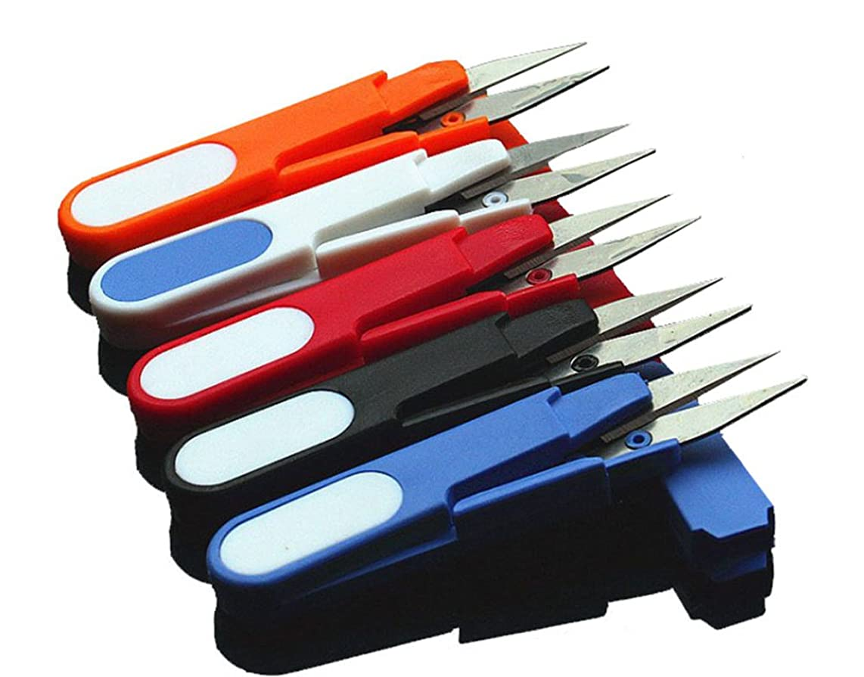 Hobby Plus Mini Spring Scissors, Portable Scissors, Cutter U Shape Scissor, Red