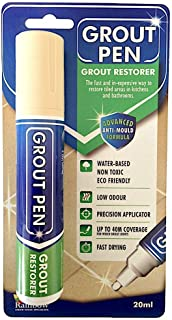 Grout Pen Large Cream - Ideal to Restore The Look of Tile Grout Lines