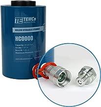 TEMCo HC0000 - Hollow Hydraulic Cylinder Ram 20 TON 2 in Stroke - 5 Year Warranty