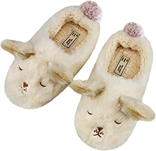 Womens Indoor Warm Fleece Slippers Ladies Girls Cartoon Winter Soft Cozy Booties Non-Slip Plush Slip-on Shoes Ankle Boots