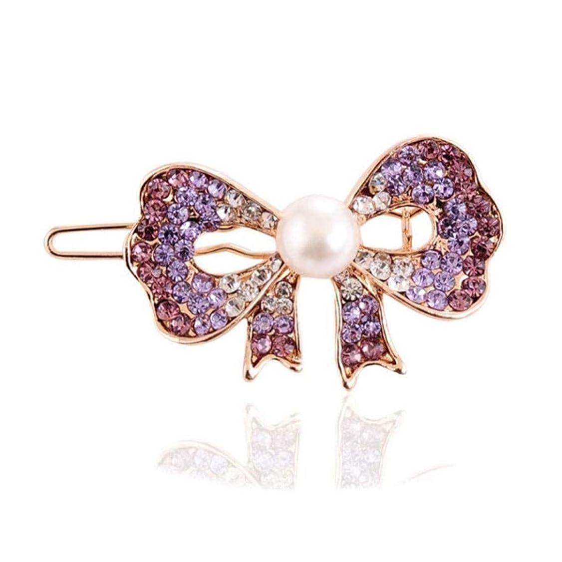 叫ぶ一族区別ヘアクリップ、ヘアピン、ヘアグリップ、ヘアグリップ、ヘアアクセサリーメスクリップヘアピン前髪ヘアピンヘアピンクリップカエルクリップクリップ帽子紫 (Color : Purple, Size : 5.2*3.0cm)