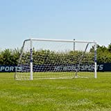 FORZA Alu60 Soccer Goal (8ft x 4ft) (Single or Pair) (Optional Target Sheet) – Super Strong Aluminum Soccer Goal Perfect for Mini Soccer [Net World Sports] (Pair of Goals & Target Sheets)