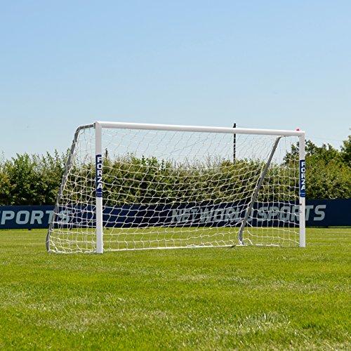 FORZA Alu60 Soccer Goal (8ft x 4ft) (Single or Pair) (Optional Target Sheet) – Super Strong Aluminum Soccer Goal Perfect for Mini Soccer [Net World Sports] (Pair of Goals)