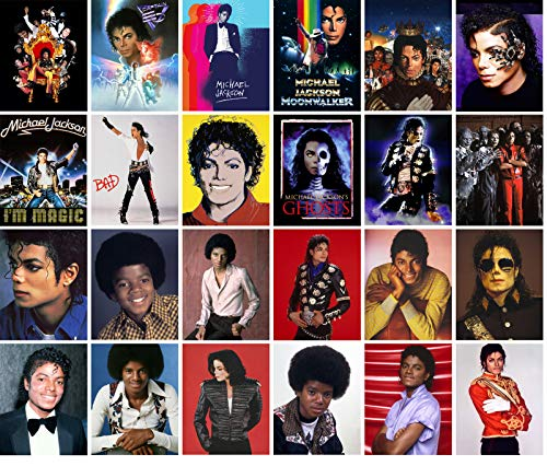 "Large Stickers (24pcs 2.5""x3.5"") MICHAEL JACKSON Pop Music Star Posters Photos Vintage Magazine covers"