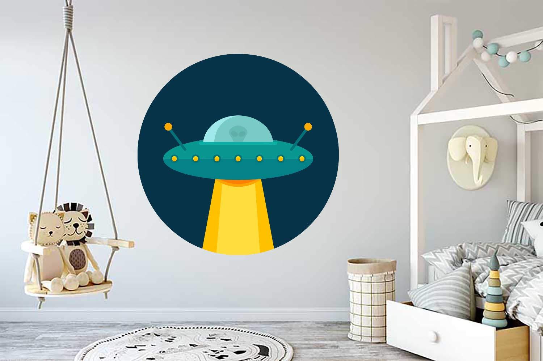 UFO Alien Space Kids Room Wall Vinyl Houston Mall Sticker Quantity limited Art Decal Mural Car
