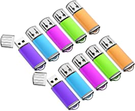 32GB USB Flash Drive 10 Pack Easy-Storage Memory Stick K&ZZ Thumb Drives Gig Stick USB2.0 Pen Drive for Fold Digital Data Storage, Zip Drive, Jump Drive, Flash Stick, Mixed Colors