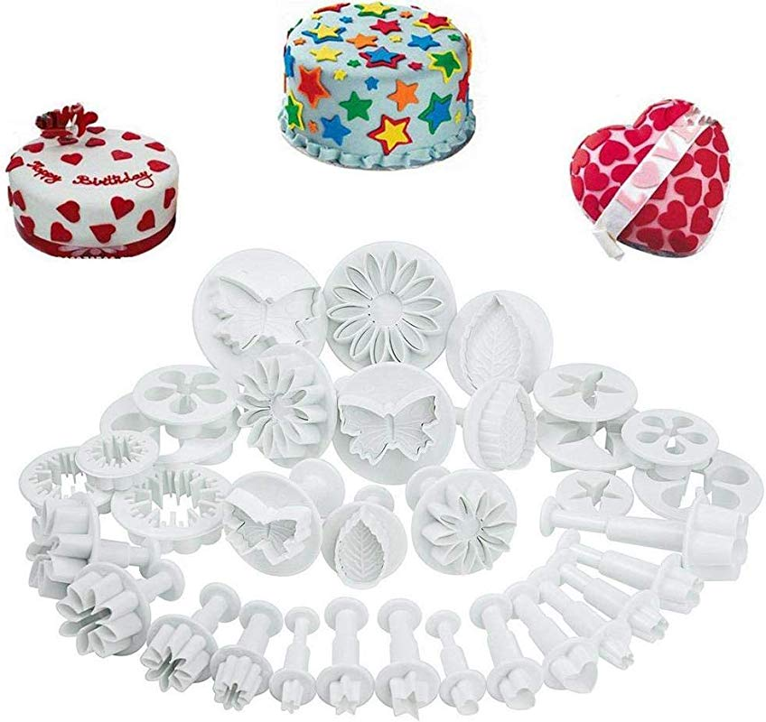 Fondant Tool Kit Fondant Cake Cookie Cutter Mold Sugarcraft Icing Decorating Flower Modelling Tools 10 Sets 33pcs