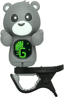 Clip On Cartoon Guitar Tuner for All Instruments, Ukulele, Guitar, Bass, Mandolin, Violin, Banjo, Large Clear LCD Display For Guitar Tuner (Gray)