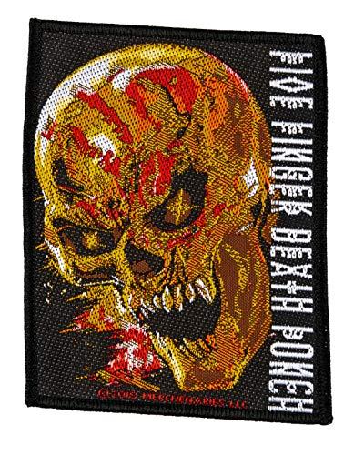 Five Finger Death Punch Parche de calavera de Blood FFDP, tejido y con licencia.