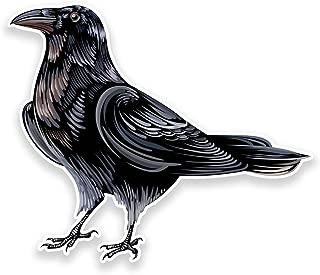 2 x 10cm/100mm Raven Crow Vinyl SELF ADHESIVE STICKER Decal Laptop Travel Luggage Car iPad Sign Fun #9191