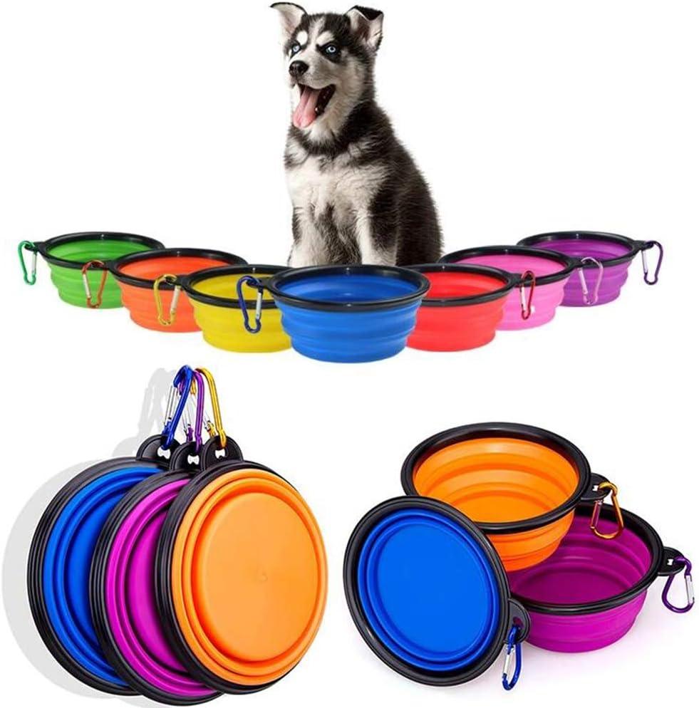 Vabogu Travel Pet Bowl Small-12 oz Light Blue