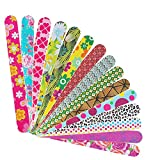 Professional Nail File 100 180 Grit Double Sided Washable Nail Files, Teuki Fingernail Files Emery Emory Boards for...