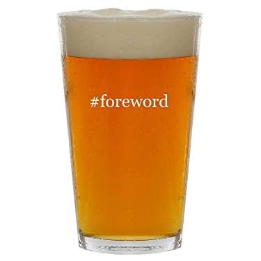 #foreword - 16oz Hashtag Clear Glass Beer Pint Glass