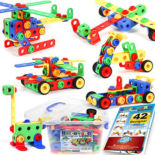 163 Piece STEM Toys Kit | Educational Construction Engineering Building Blocks Learning Set
