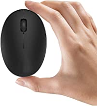TENMOS Mini Rechargeable Wireless Mouse, 2.4GHz Optical Travel Mouse Silent Wireless Computer Mice with USB Receiver, Auto Sleeping, 3 Buttons, 1000 DPI Compatible with Laptop, PC, Computer(Black)