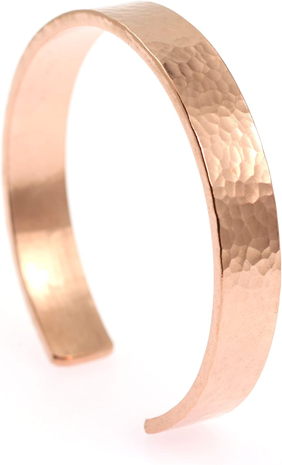 10mm Wide Hammered Copper Cuff Bracelet Credence Be super welcome J Brana By John Handmade
