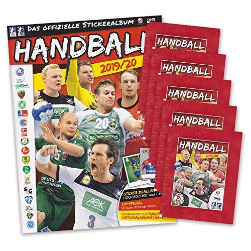 Handball Saison 2019 2020 Sammelsticker Set - Album und 5 Booster Tütchen EM-Spezial