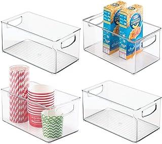 mDesign Plastic Kitchen Pantry Cabinet, Refrigerator or Freezer Food Storage Bins with Handles - Organizer for Fruit, Yogu...