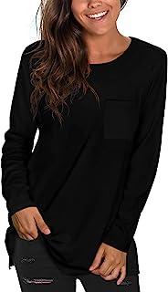 Womens T Shirts Short Sleeve Crewneck Tees Plain Workout...