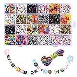 JUSTDOLIFE 1200 peças de contas criativas de artesanato com contas de joias para fazer joias faça-você-mesmo