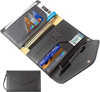 Multi-purpose Travel Passport Wallet Holder With Phone Pocket Removable Wristlet