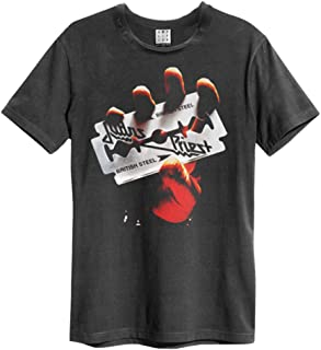 Amplified Clothing Judas Priest 'British Steel' (Charcoal) T-Shirt