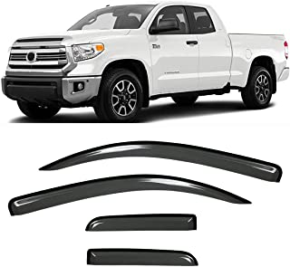 Supercrew Cab 2017-2020 Ford F250 F350 Super Duty Crew Cab Gevog 4-Piece Side Window Deflector Original Window Visors for 2015-2020 Ford F150 Sun Rain Guard Ventvisor