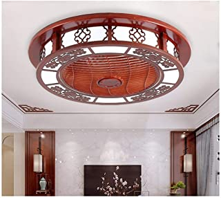 Ceiling Fan Light Chinese Solid Wood Living Room Dining Room Bedroom Study Ceiling Fan Light Chinese Style Chrysanthemum H...