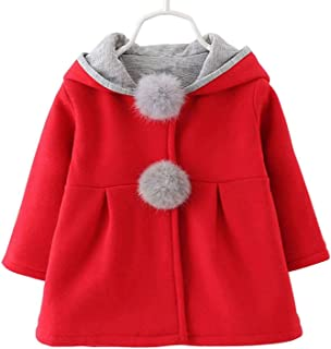 Waprincess 2017 Baby Girls Toddler Kids Winter Big Ears Hoodie Jackets Outerwear Coats
