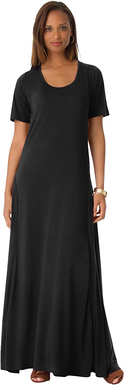 Jessica London Women's Plus Size T-Shirt Maxi Dress