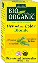 Indus Valley BIO Organic Chemical Free Natural Blonde Henna Hair Color For Grey Coverage Hair