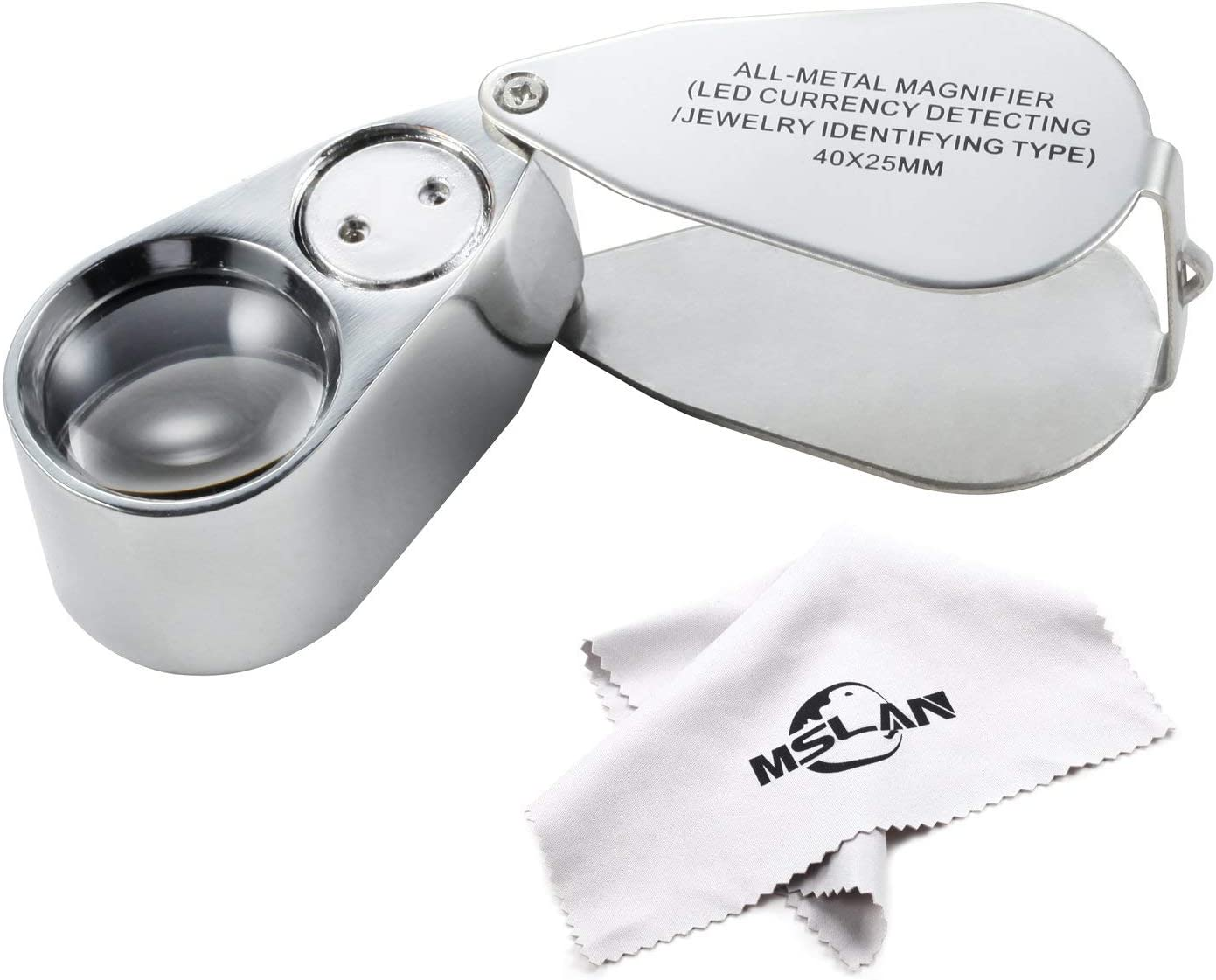 MSLAN 40X Full Metal Illuminated Free shipping on posting Don't miss the campaign reviews Pocket Best Magnifier Jewelers