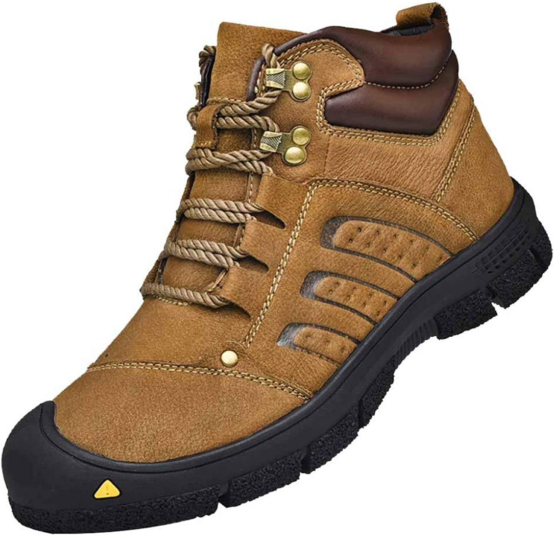 6f77b7c11113 Leather Men's High-top High-top High-top Cotton shoes Men's Plush ...