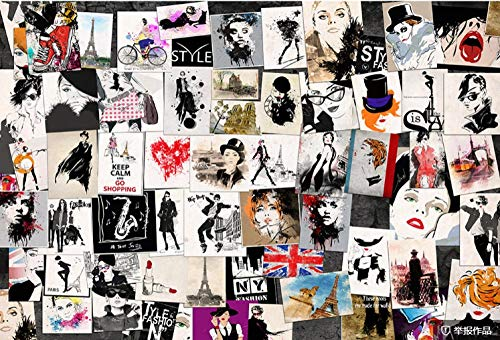 Photo Wallpaper Fashion Beauty Puzzle Background Wall Large Wall Mural Series Wallpaper for Living Room Wall Art Wall Decor Home Decor-157.5X110.2Inch