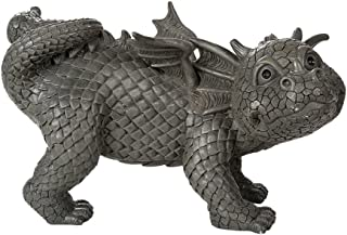 Pacific Giftware Garden Dragon Peeing Dragon Decorative Garden Accent Sculpture Stone Finish 10 Inch Tall