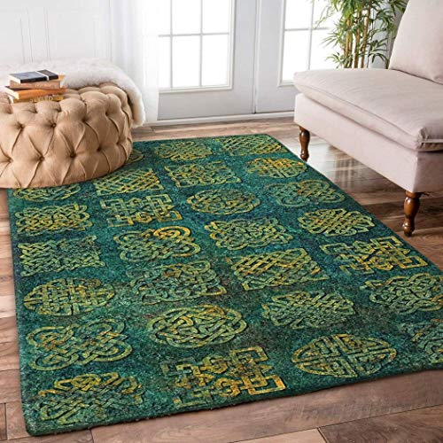 Celtic Knot Rug Area Rug for Bathroom, Kitchen and Living Room Decor with(2x3, 3x5, 4x6, 5x8) Size