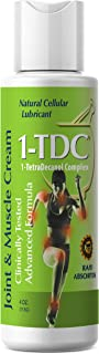1TDC – Joint & Muscle Relief Cream – 4 oz – Professionally Formulated to Soothe, Relax & Promote Healing – 1-TetraDecanol ...
