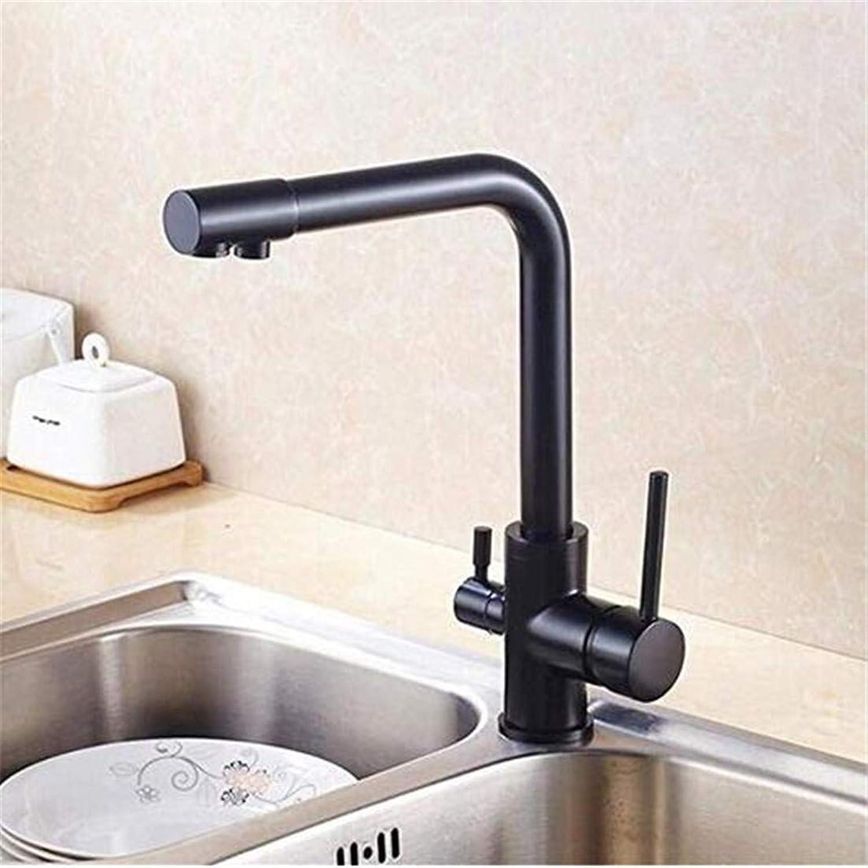 Modern Hei Und Kalt Wasserhahn Vintage überzugarmaturen Waschtischarmatur Matte Pure schwarz Küchenarmatur Warm Und Kaltwasser Küchenarmatur