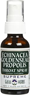 Gaia Herbs Echinacea Goldenseal Propolis Throat Spray-1 oz