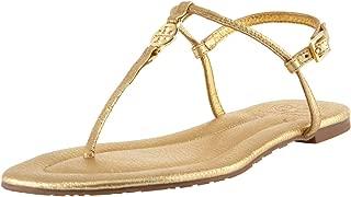 Women's Emmy Metallic Leather Thong Sandal, Gold