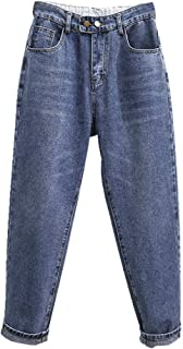 N\P Más El Tamaño De Cintura Alta Jeans De Las Mujeres Vintage Jeans Pantalones Sueltos De Mezclilla Jeans Ropa De Calle