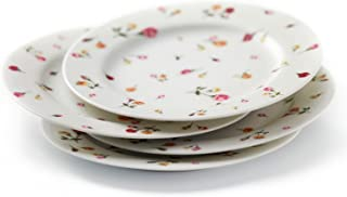 Country Rose Buds S/4 Dessert Plates