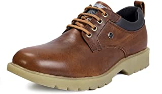 Bacca Bucci Real Leather Lace up Combat Boots Light Weight-Brown