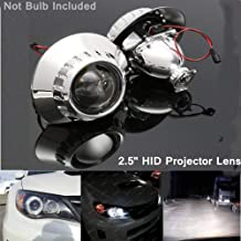 2019 1 Pair 2.5 Inch Bi-xenon HID H1 Headlight Projector Lens Retrofit Beam for Bmw E46 CSL88 (Black)